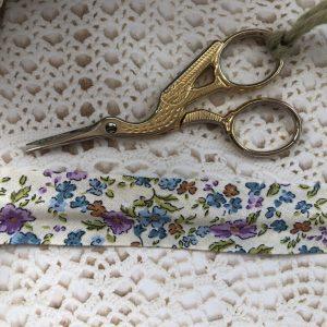 floral single fold bias tape